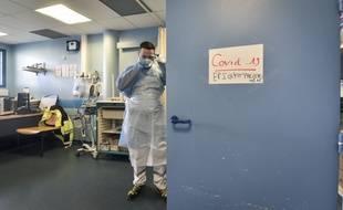 Dans un hôpital à Pau, une salle dédiée au dépistage du coronavirus, le 10 mars 2020.