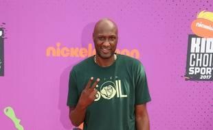 L'ancien joueur de basket Lamar Odom aux Kids' Choice Sports Awards 2017