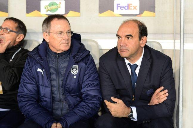 Eric Bedouet et Ricardo sur le banc.