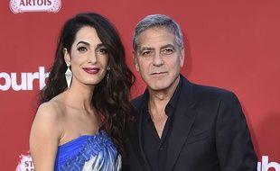 Amal et George Clooney le 23 octobre 2017 à Los Angeles.