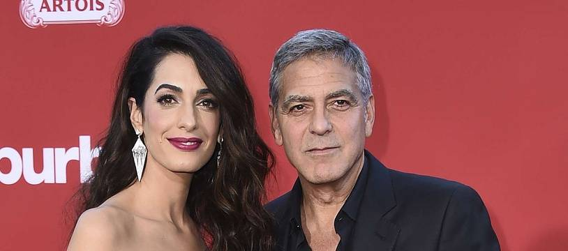 Amal et George Clooney le 23 octobre 2017 à Los Angeles.