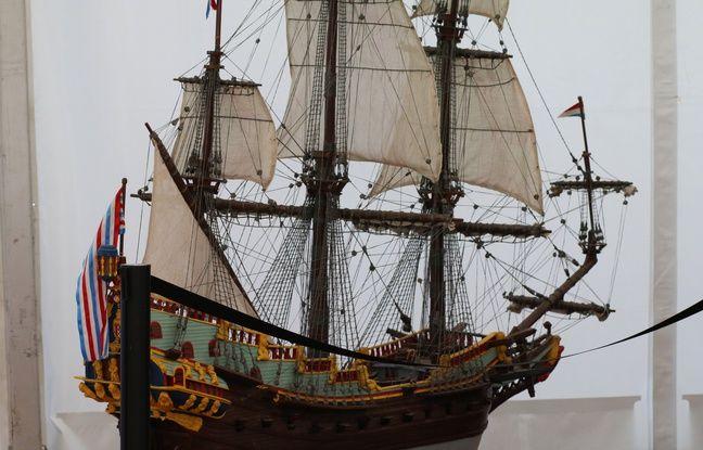 Une des maquettes qui sera exposée au musée de la mer et de la marine à Bordeaux
