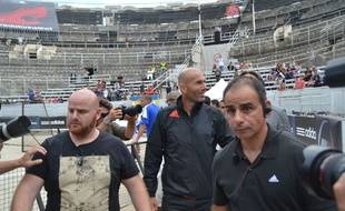 Zinedine Zidane, aux arènes d'Arles, lundi 15 septembre 2014.