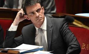 Manuel Valls à l'Assemblée nationale le 1er avril 2015