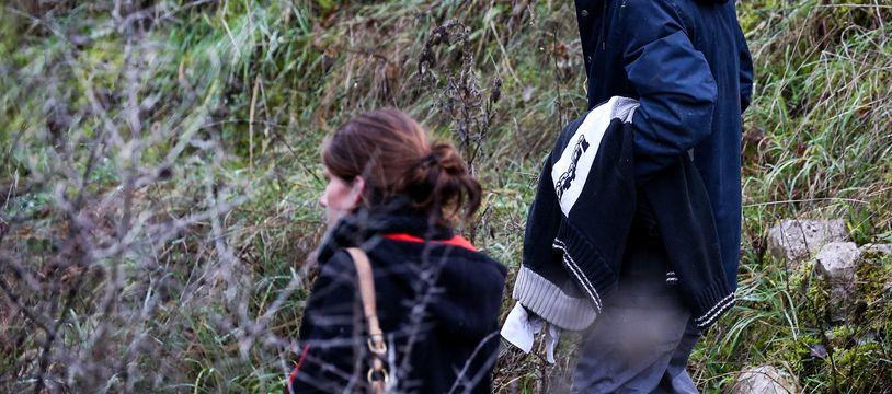 Cédric Jubillar, le 23 décembre 2020, lors des recherches menées pour retrouver sa femme Delphine.