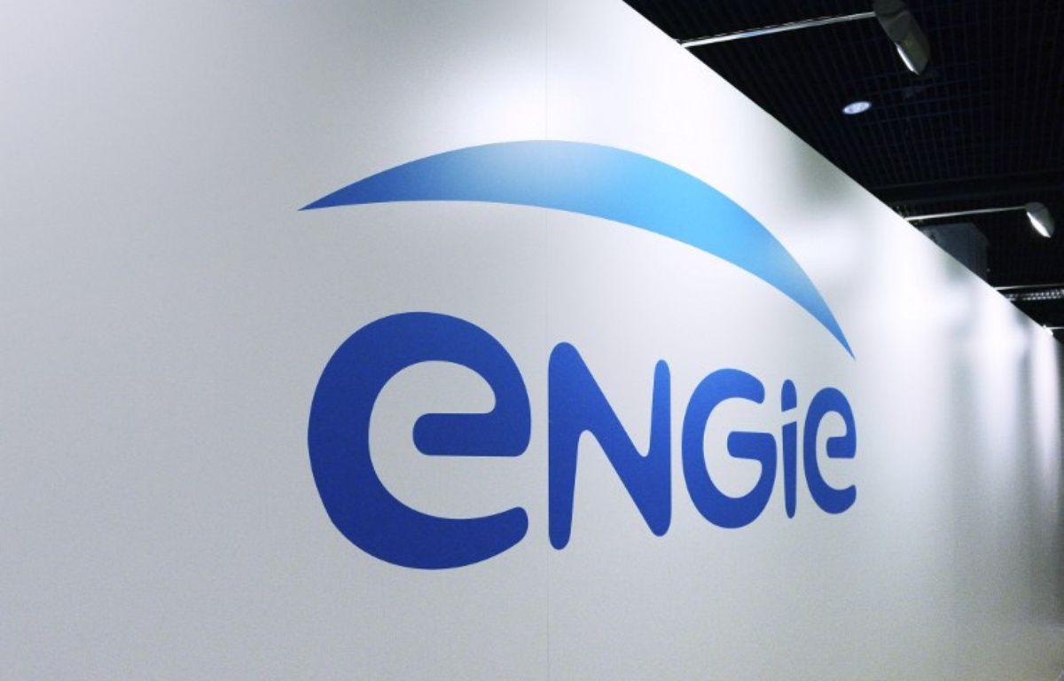 Illustration du logo d'Engie  – ERIC PIERMONT / AFP