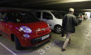 Un parking à Nantes (illustration)