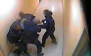 Image d'une caméra de vidéosurveillance de la prison de St Quentin-Fallavier.