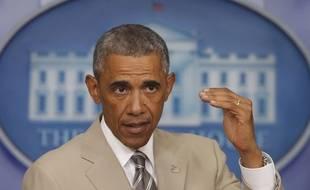 Barack Obama lors de son allocution à la Maison blanche le 28 août 2014.