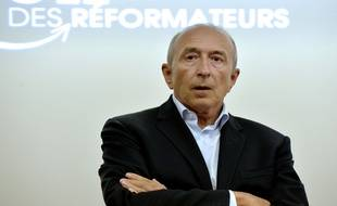 """Lyon socialist mayor Gerard Collomb attends a meeting of the """"PÙle des rÈformateurs"""" (Pole of reformers) on August 26, 2014 in Lyon.  AFP PHOTO / JEAN-PHILIPPE KSIAZEK"""