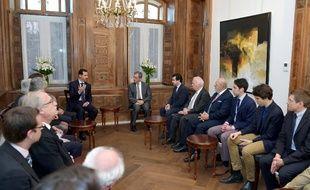 Bachar al-Assad a rencontré cinq députés de droites dimanche 27 mars à Damas.