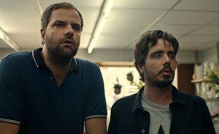 Eric et Quentin dans leur film «Bad Buzz», sorti mercredi.