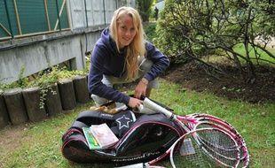 La joueuse de tennis Mathilde Johansson, le 1er juin 2012 à Roland-Garros.