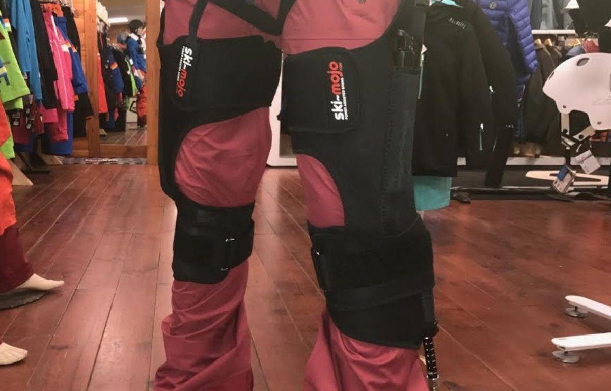 L'exosquelette pour faire du ski-mojo sur un mannequin. – Eric Collard