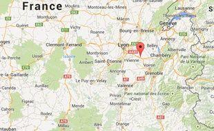Localisation de Ruy-Montceau en Isère
