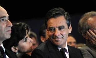 Jean-François Copé, Rachida Dati et François Fillon, le 24 septembre 2010 lors de la session parlementaire de l'UMP à Biarritz.