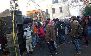 Des milliers de teufeurs s'étaient rassemblés le 8 décembre 2013 lors d'un teknival à Pont-Réan.