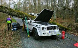 L'accident s'est produit lundi matin sur la commune de Gourdon, dans le Lot.