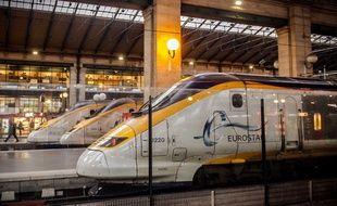 Un train Eurostar stationné à la Gare du Nord, le 17 janvier 2015.