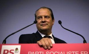 Le premier secrétaire du Parti socialiste (PS) Jean-Christophe Cambadélis au siège du PS, rue de Solférino, à Paris, le 24 février 2015