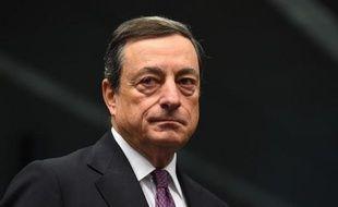 Le président de la BCE Mario Draghi, le 8 décembre 2014 à Bruxelles
