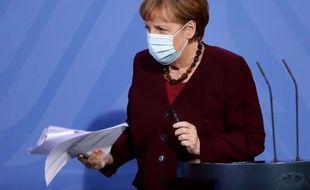 Angela Merkel le 19/03/21 à Berlin.