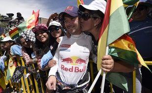 Le pilote français Sébastien loeb, le 7 janvier 2016, sur le Dakar, en Bolivie.
