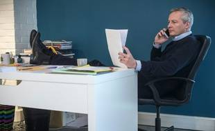 Bruno Le Maire à son bureau, février 2016.