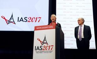 L'ouverture de la conférence sur le sida, à Paris, le 23 juillet 2017.