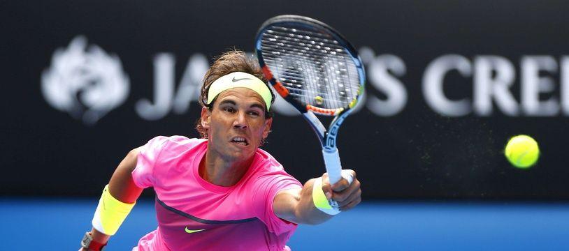 Rafael Nadal a été balayé par Tomas Berdych en quarts de finale de l'Open d'Australie, le 27 janvier 2015.
