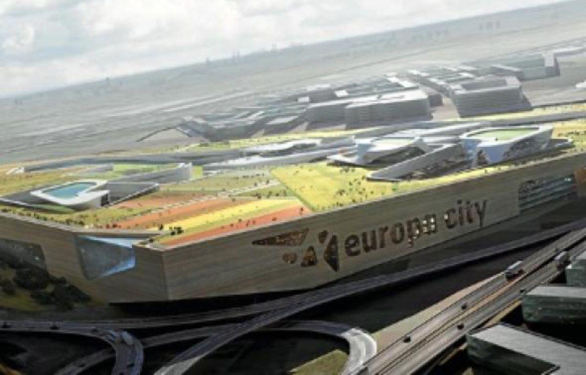 Les quatre cabinets d'architectes ont présenté hier leur plan pour Europa City, futur pôle touristique à Gonesse. –  VAlODE ET PISTRE
