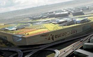 Les quatre cabinets d'architectes ont présenté hier leur plan pour Europa City, futur pôle touristique à Gonesse.