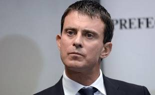 Manuel Valls, le 11 octobre 2013, près de Chambéry.