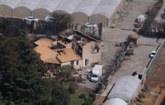 Une maison touchée par un incendie dans le Gard