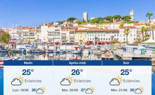 Météo Cannes: Prévisions du dimanche 18 août 2019