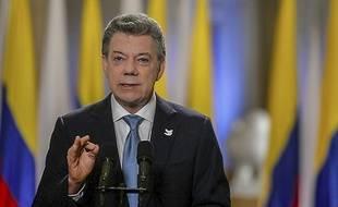 Le président colombien Juan Manuel Santos à Bogota, le 12 novembre 2016.