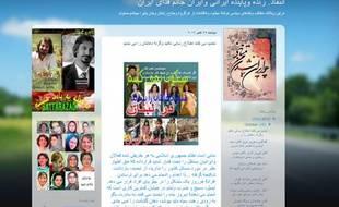 Capture d'écran du blog personnel de Sattar Beheshti le 9 novembre 2011