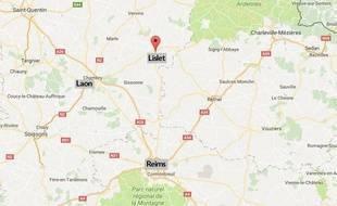 La commune de Lislet, dans l'Aisne.