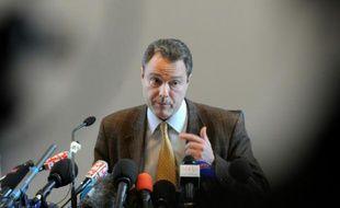 Le procureur d'Annecy, Eric Maillaud, le 19 février 2014 au tribunal d'Annecy