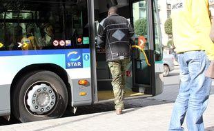 Illustration d'un bus ici à République à Rennes.