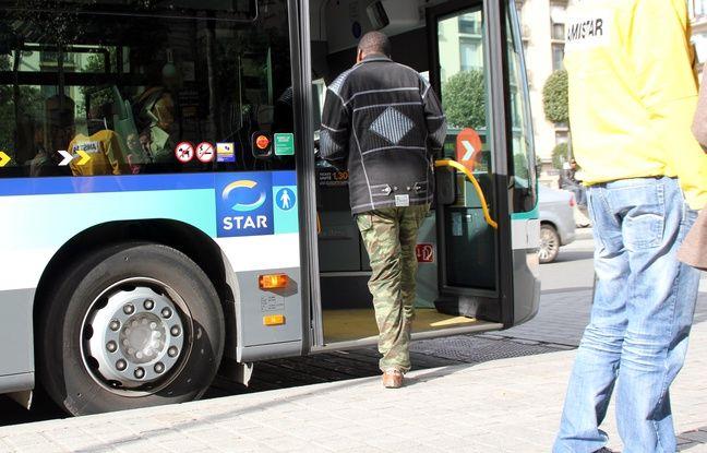Rennes: Un conducteur de bus bousculé par un passager et blessé à la jambe