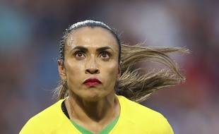 Marta est devenue la meilleure buteuse de l'histoire de la Coupe du monde.