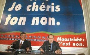 Philippe Séguin et Charles Pasqua avaient mené la campagne du non lors du référendum sur Maastricht, en 1992.