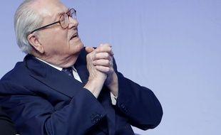Jean Marie Le Pen, lors du 15e Congres du Front National à Lyon, en novembre 2014.