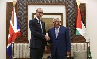 Le prince William a rencontré Mahmoud Abbas le 27 juin à Ramallah.