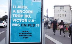 La campagne se décline sur les panneaux d'affichage.
