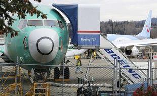 Un Boeing 737 Max 8 en construction, le 11 mars 2019.