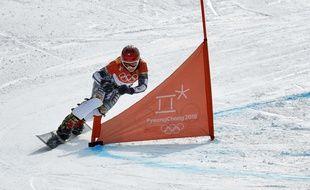 Une snowboardeuse au JO de Pyeongchang.