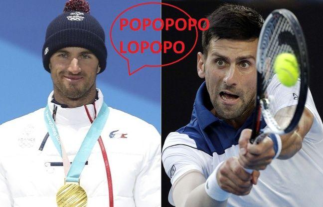20 Minutes, JO 2018: La rencontre des sosies! Novak Djokovic donne rendez-vous à Pierre Vaultier à Roland-Garros