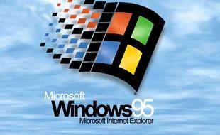 Le logo de Windows 95, bien connu de toute une génération de trentenaires (capture d'écran).